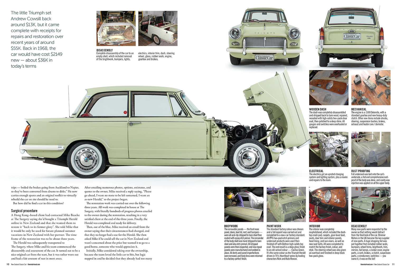 1968 triumph herald – hark this herald's angles sing – the surgery